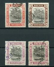 Brunei 1907-10 values to 4c (both shades) FU SG24/26a cat £71