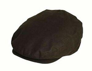Herren Qualität Flat Cap lässiges gewachst verstellbar One Size dunkelgrün Baumwolle