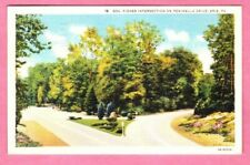 c1940s VTG Lot (2) Linen Postcards Roads Erie McConnellsburg PA Tuscarora Summit