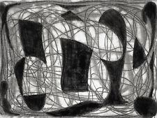 Alwin Carstens Konstruktivistische Zeichnung Druck, Abstrakt Expressionismus