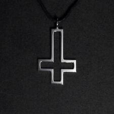 Upside Down Cross Pendant Necklace Satanic Cross Inverted Cross Reversed Cross