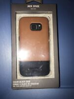 Lot Of 3pc JACK SPADE Samsung Galaxy S7 Wrap Case Cover Fulton Tan / Navy Brown