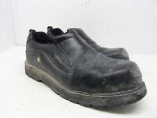 DAKOTA Men's Anti-Slip Oxford Slip On Steel Toe Safety Work Shoes Black Size 10M