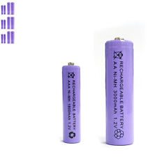 6 AAA 6 AA 1800mAh 3000mAh Ni-MH rechargeable battery Solar Light MP3 Purple