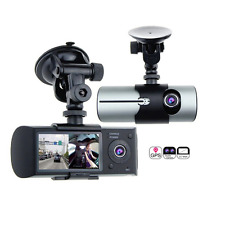 2.7'' LCD R300 Dual Lens Dash Vehicle Camera Car DVR GPS Camera Video Recorder