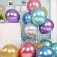 "50PCS/Bag 10"" Latex Metallic Balloons Wedding Birthday Kids Party Balloon Decor"