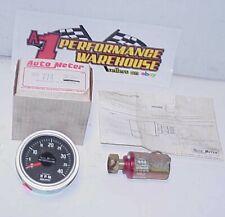 Vintage New Old Stock Autometer 3 Diesel 774 Tachometer 4000 Rpm Amp 602 Sender