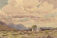 Philip William Cole (1884-1964) - 1934 Watercolour, Rural Scene with Livestock
