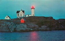 Nubble Light York Beach Maine Postcard pm 1970s
