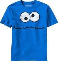 Sesame Street Men's Cookie Monster Face Licensed T-Shirt Blue New