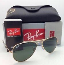 New RAY-BAN Sunglasses SMALL METAL RB 3044 L0207 52-14 Gold w/ G15 Crystal Green