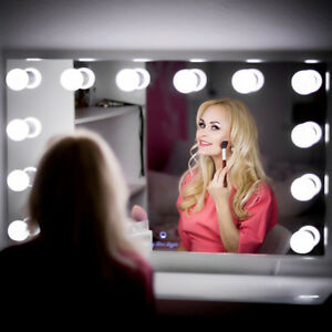 Hollywood Mirror Vanity LED Light Beauty Makeup Dressing with 10 Bulbs Dimmer