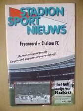 2000 Stadion Sport Nieuws- FEYENOORD v CHELSEA