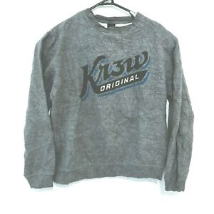 KR3W Mens Sweater Size M Grey Long Sleeve Pullover Jumper Krew
