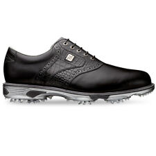 FootJoy DryJoys Tour Mens Black Leather Waterproof Golf Shoes - EXTRA WIDE