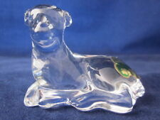 WATERFORD CRYSTAL Nativity Lamb Sheep Laying Down ~ EXCELLENT with STICKER