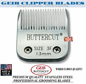 GEIB BUTTERCUT STAINLESS STEEL 3F BLADE*Fit Oster A5/A6,MOST Wahl,Andis Clipper