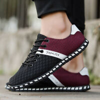 Men's Athletic Shoes Sneakers Casual Sport Lace Up Running Trainers Breathable