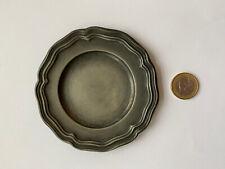 Ancien coupelle vide poche en étain 10 cm