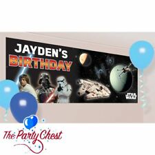STAR WARS PERSONALISED BANNER WITH LETTERS Star Wars Poster Party Decoration 087
