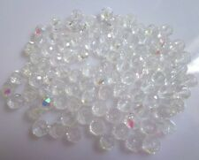 Wholesale Exquisite Rondelles Crystal Beads Jewelry Making 3*4mm 100Pcs White AB