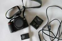 Nikon D60 10.2MP Digital-SLR DSLR Camera Body only with some accessories