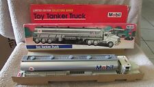 Mobil  Toy Tanker Truck - 1993 - Real Head and Tail Lights - NIB  (SKP)