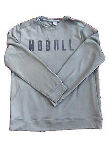 Men's NOBULL Performance Crew Sweatshirt Large Army Green
