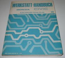 Werkstatthandbuch Elektrik Honda Civic elektrische Schaltpläne 1988 4.Generation