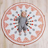 AU_ Pattern Floor Carpet Baby Cotton Crawling Play Mat Kids Room Blanket Eager