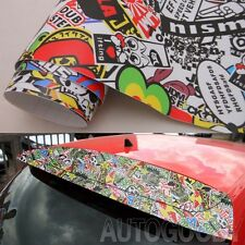 "12"" x 60"" JDM illest Stickerbomb Graffiti Cartoon Vinyl Film Wrap Sticker Decal"