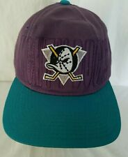Vintage Starter Anaheim Mighty Ducks NHL Snapback Hat Purple Turquoise