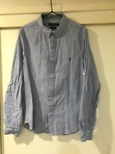 French Connection Mens Multicoloured Button Front Slim Shirt Size L Good Condt