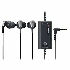Audio Technica QuietPoint headphone ATH-ANC23 Black Noise-Cancelling New