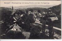 AK Ansichtskarte Giersdorf mit ev. Kirche und Hochgebirge