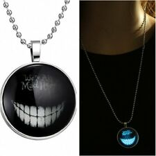 Smiling Fashion Women Glow in the Dark Necklace Pendant Stainless Steel Jewelry