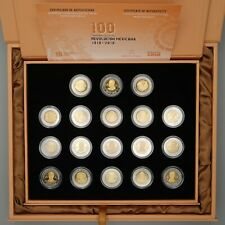 Mexico 2008 - 2010 Revolution Anniversary 5 Pesos Proof Like Coin Set Box & COA