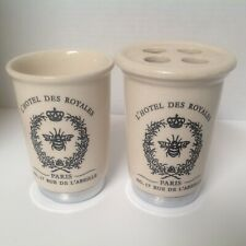 L'Hotel Des Royales Paris Ceramic Toothbrush holder And Cup Earl And Wilson