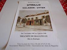 AFFICHE MAURICE UTRILLO.TRIANON DE BAGATELLE.1987