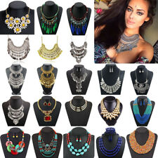Fashion Bohemia Women Pendant Necklace Choker Chunky Chain Bib Statement Jewelry