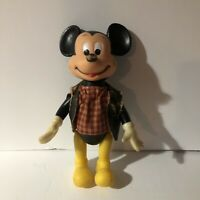 Vintage Mickey Mouse Toy Doll Walt Disney Productions Made In Hong Kong.