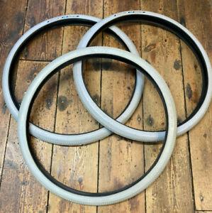 3 x Schwalbe Activeline Grey Wheelchair Tyres. 22 x 1 3/8 (ETRTO 37-501) *NOS