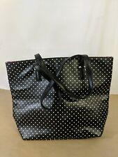 A7 CHI Black Polka Dot Pink Lining Tote Bag Purse