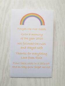 Personalised Teacher Nursery Key Worker 2020 Leaving Gift Forget Me Not Seeds