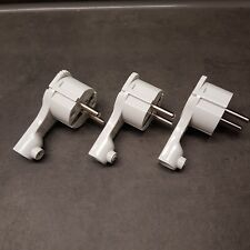3 Stück extraflacher Winkelstecker Schutzkontakt Stecker weiss extra flach