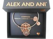 Alex and Ani Compass III Bangle Bracelet ROSE GOLD New Tag Box Card
