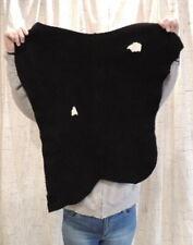 6-7 oz. Black Deerskin Leather Hide for Native Crafts Buckskin Bags Larp Cosplay