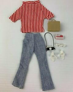 Vintage Palitoy Tressy Outfit In a Holiday Mood + shoes + accessories