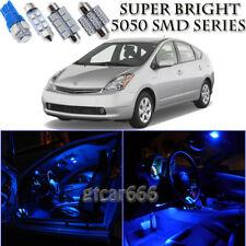 For Toyota Prius 2004-2008 Blue LED Interior Light Kit + License Plate Light 10X