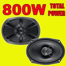 "BOSS 6""x9"" 800W TOTAL 2WAY 6x9 INCH car rear deck oval shelf speakers New PAIR"